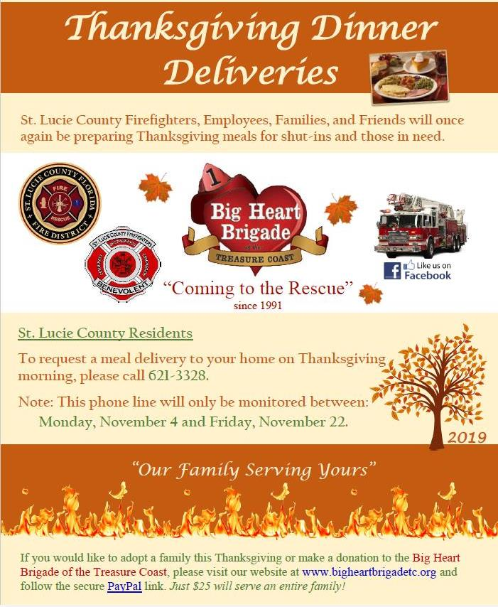 Big Heart Brigade Thanksgiving Dinner Deliveries 2019